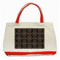 Line Geometry Pattern Geometric Classic Tote Bag (red)