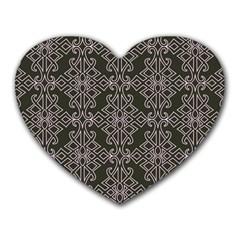 Line Geometry Pattern Geometric Heart Mousepads
