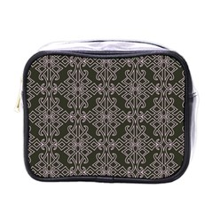 Line Geometry Pattern Geometric Mini Toiletries Bags