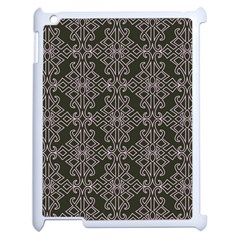 Line Geometry Pattern Geometric Apple iPad 2 Case (White)