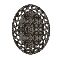Line Geometry Pattern Geometric Oval Filigree Ornament (two Sides)