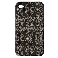 Line Geometry Pattern Geometric Apple Iphone 4/4s Hardshell Case (pc+silicone)