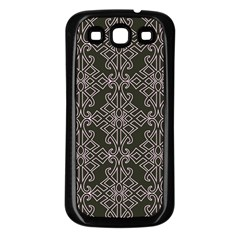 Line Geometry Pattern Geometric Samsung Galaxy S3 Back Case (black)