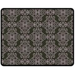 Line Geometry Pattern Geometric Double Sided Fleece Blanket (medium)