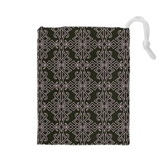 Line Geometry Pattern Geometric Drawstring Pouches (large)