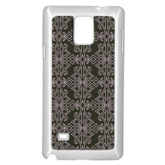 Line Geometry Pattern Geometric Samsung Galaxy Note 4 Case (white)