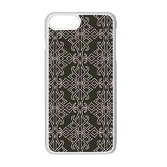Line Geometry Pattern Geometric Apple Iphone 7 Plus White Seamless Case