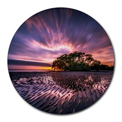 Landscape Reflection Waves Ripples Round Mousepads