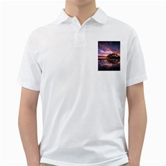 Landscape Reflection Waves Ripples Golf Shirts