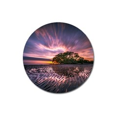 Landscape Reflection Waves Ripples Magnet 3  (round)