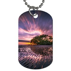 Landscape Reflection Waves Ripples Dog Tag (Two Sides)