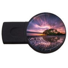 Landscape Reflection Waves Ripples Usb Flash Drive Round (2 Gb)