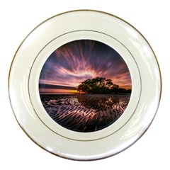 Landscape Reflection Waves Ripples Porcelain Plates