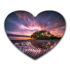 Landscape Reflection Waves Ripples Heart Mousepads