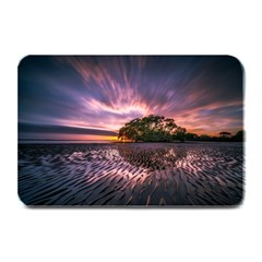 Landscape Reflection Waves Ripples Plate Mats