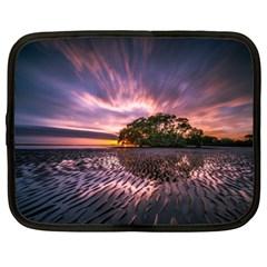 Landscape Reflection Waves Ripples Netbook Case (large)