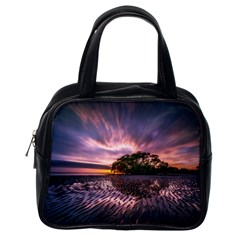 Landscape Reflection Waves Ripples Classic Handbags (One Side)