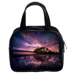 Landscape Reflection Waves Ripples Classic Handbags (2 Sides)