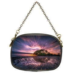 Landscape Reflection Waves Ripples Chain Purses (two Sides)