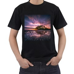 Landscape Reflection Waves Ripples Men s T Shirt (black)
