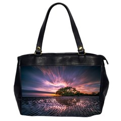 Landscape Reflection Waves Ripples Office Handbags (2 Sides)