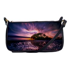 Landscape Reflection Waves Ripples Shoulder Clutch Bags