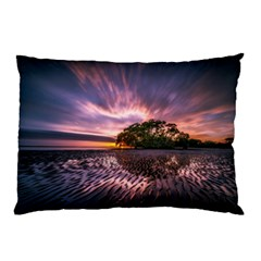 Landscape Reflection Waves Ripples Pillow Case (two Sides)