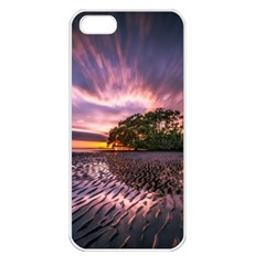 Landscape Reflection Waves Ripples Apple Iphone 5 Seamless Case (white)
