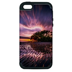 Landscape Reflection Waves Ripples Apple Iphone 5 Hardshell Case (pc+silicone)