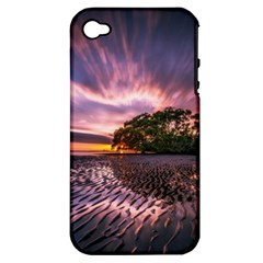 Landscape Reflection Waves Ripples Apple Iphone 4/4s Hardshell Case (pc+silicone)