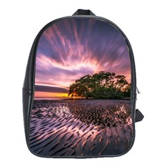 Landscape Reflection Waves Ripples School Bags (xl)