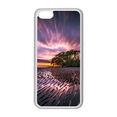 Landscape Reflection Waves Ripples Apple iPhone 5C Seamless Case (White)