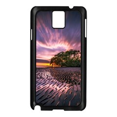 Landscape Reflection Waves Ripples Samsung Galaxy Note 3 N9005 Case (Black)