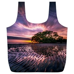 Landscape Reflection Waves Ripples Full Print Recycle Bags (l)