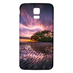 Landscape Reflection Waves Ripples Samsung Galaxy S5 Back Case (white)
