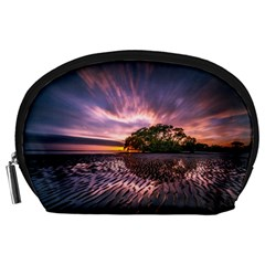 Landscape Reflection Waves Ripples Accessory Pouches (large)