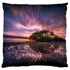 Landscape Reflection Waves Ripples Large Flano Cushion Case (one Side)