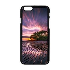 Landscape Reflection Waves Ripples Apple Iphone 6/6s Black Enamel Case