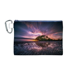 Landscape Reflection Waves Ripples Canvas Cosmetic Bag (M)