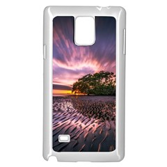 Landscape Reflection Waves Ripples Samsung Galaxy Note 4 Case (white)