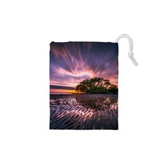 Landscape Reflection Waves Ripples Drawstring Pouches (xs)
