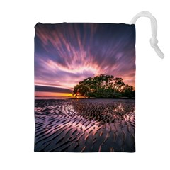 Landscape Reflection Waves Ripples Drawstring Pouches (Extra Large)