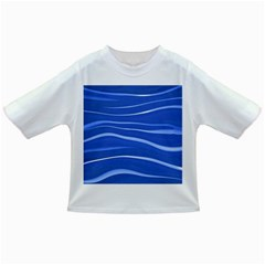 Lines Swinging Texture  Blue Background Infant/toddler T Shirts
