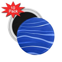 Lines Swinging Texture  Blue Background 2 25  Magnets (10 Pack)