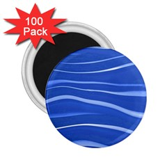 Lines Swinging Texture  Blue Background 2 25  Magnets (100 Pack)