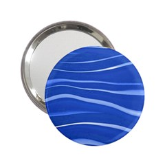 Lines Swinging Texture  Blue Background 2 25  Handbag Mirrors