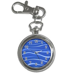 Lines Swinging Texture  Blue Background Key Chain Watches