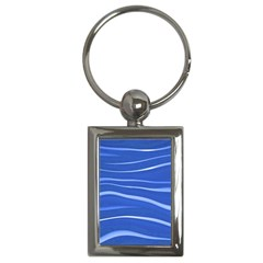 Lines Swinging Texture  Blue Background Key Chains (rectangle)