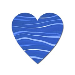 Lines Swinging Texture  Blue Background Heart Magnet