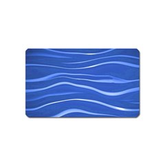 Lines Swinging Texture  Blue Background Magnet (name Card)